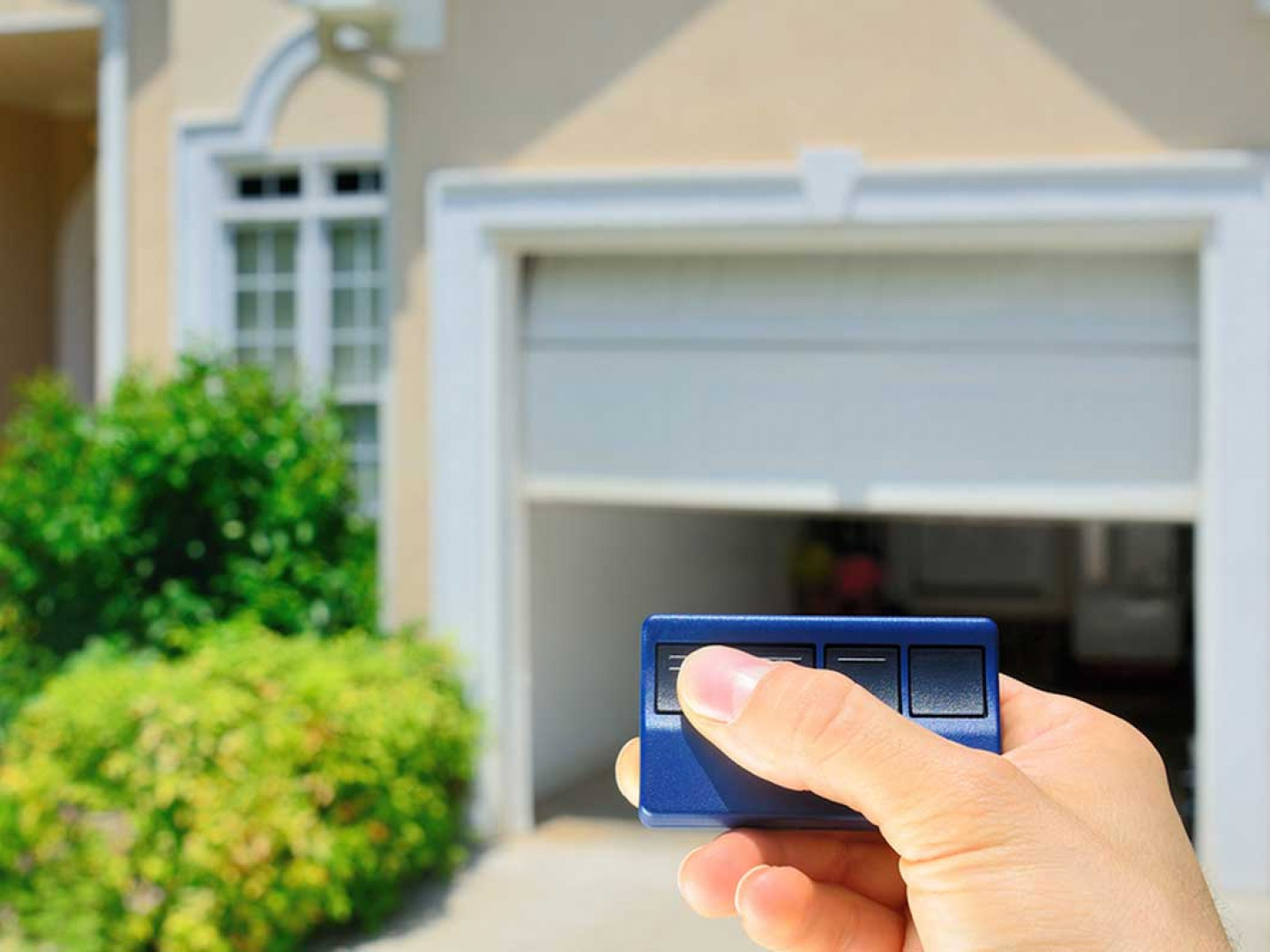 Control your garage door from anywhere, at any time